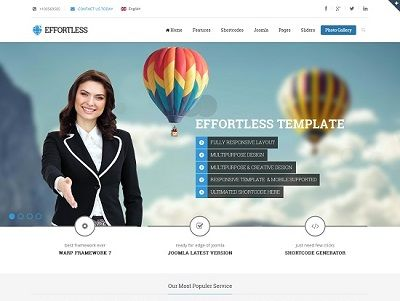 Effertless Multi-Purpose Joomla Template small