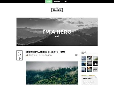 Go Ahead Blogger Template for Podcaster small