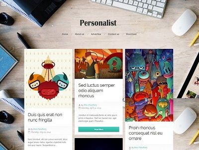 Personalist Grid Based Blogger Template small