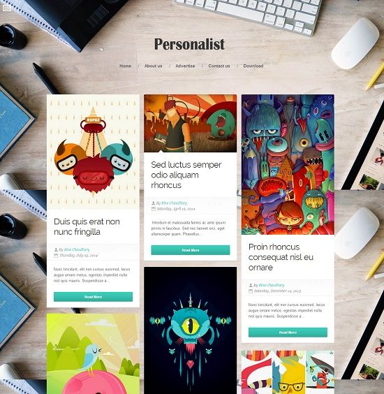 Personalist Grid Based Blogger Template