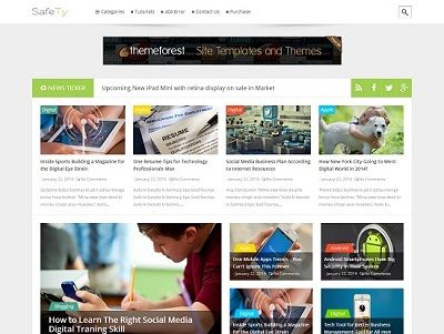 Safety Multi Purpose Blogger Template small
