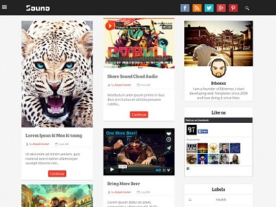 Sauna Grid Based Blogger Template small