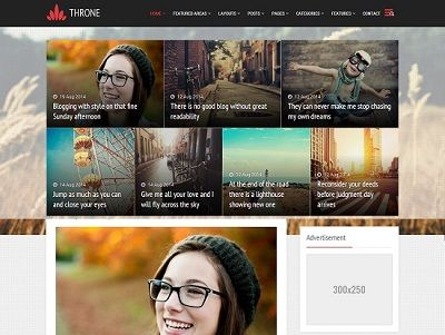 Throne Magazine Blogger Template small