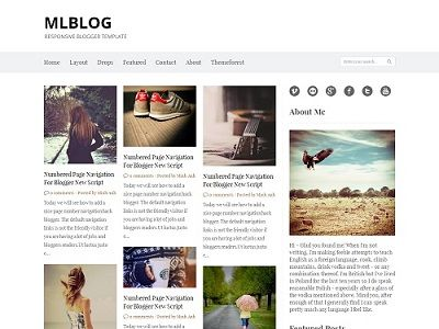 MLBLOG Grid Based Blogger Template small