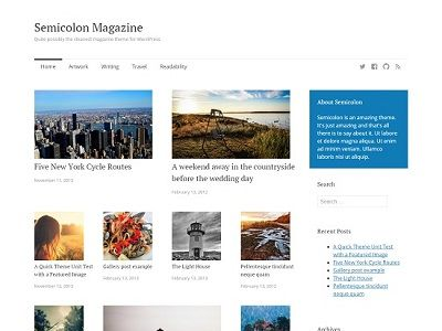 Semicolon Magazine WordPress Theme small