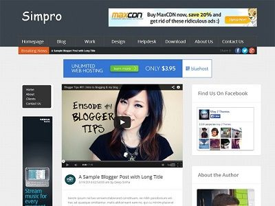 Simpro Blogger Magazine Template small