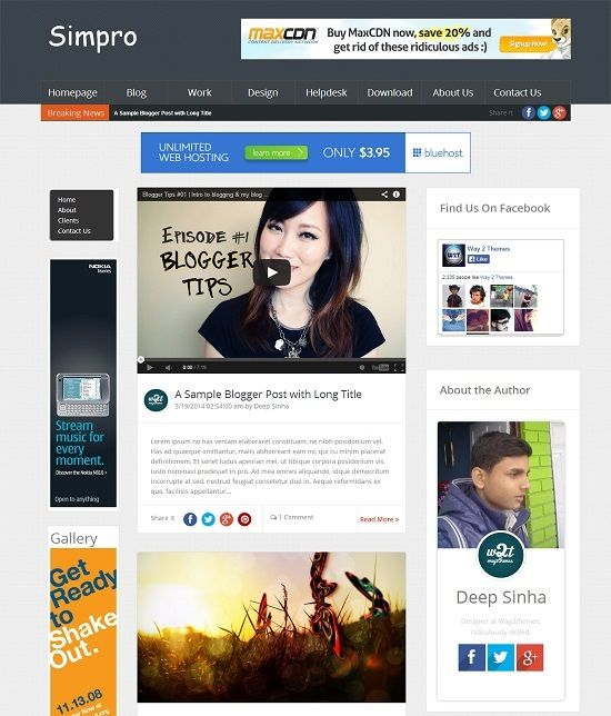 Simpro Blogger Magazine Template
