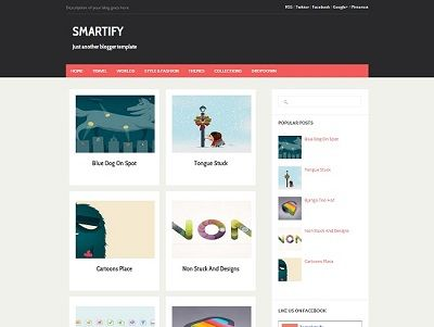 Smartify Gallery Blogger Template small