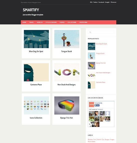 Smartify Gallery Blogger Template