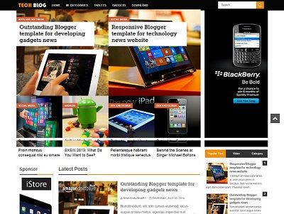 TechBlog Tech Blogger Template small