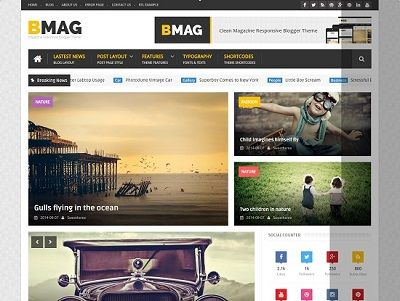 BMAG Responsive Magazine Blogger Template small