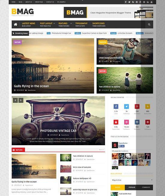 BMAG Responsive Magazine Blogger Template