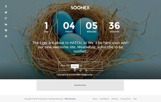 SOONEX Coming Soon Blogger Template