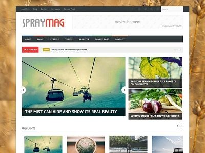 Spraymag Responsive Blogger Template small