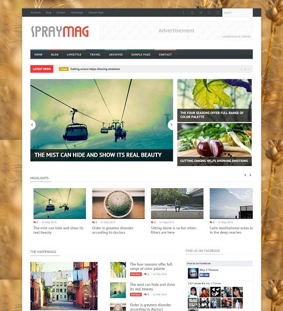 Spraymag Responsive Blogger Template