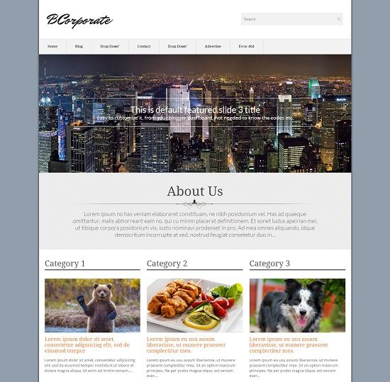 BCorporate Business Blogger Template