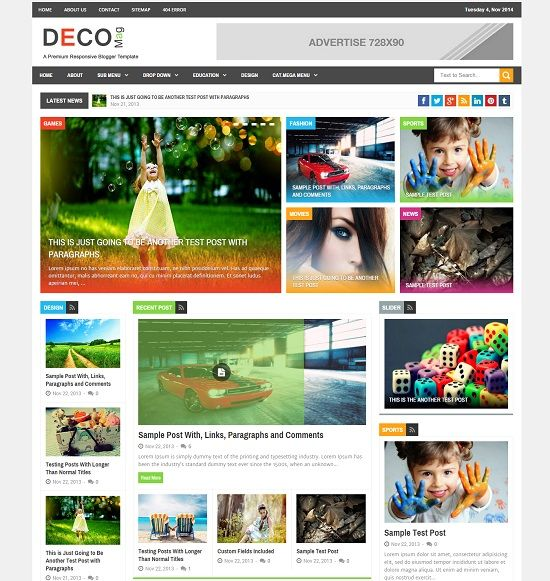 Deco Mag Magazine Blogger Template