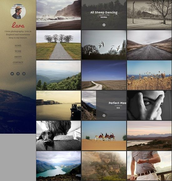 Lara Photographer Blogger Template