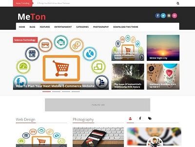 Meton Magazine Blogger Template small