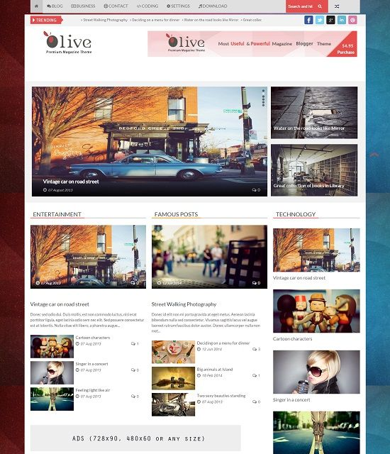 Olive Magazine Blogger Template