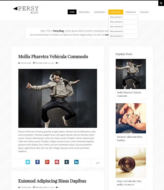 Persy Clean Blogger Templates
