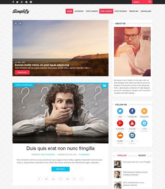 Simplify A Simple Blogger Template