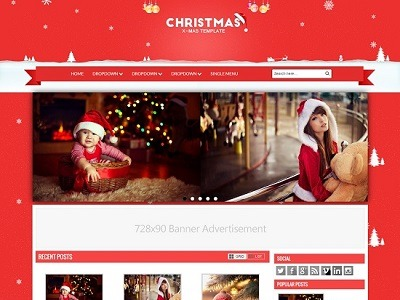 Christmas Gallery Blogger Template small