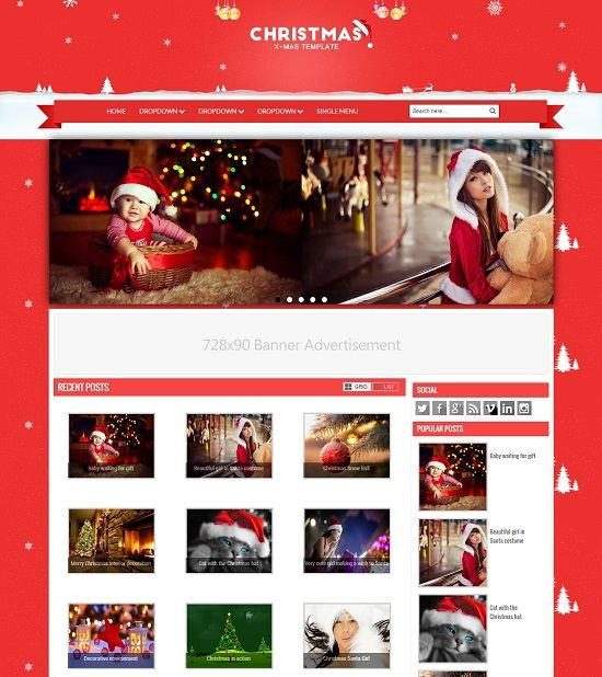 Christmas  Gallery Blogger Template