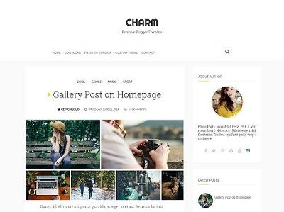 Charm Minimal Blogger Template small