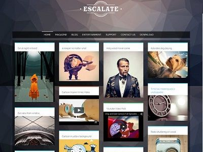 Eescalate Gallery Blogger Template Small