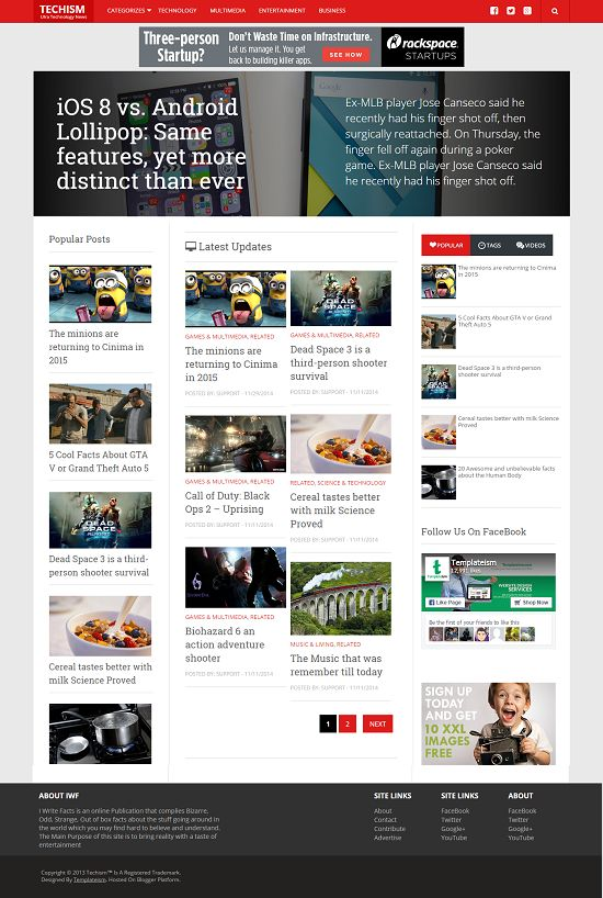 Techism News Blogger Template