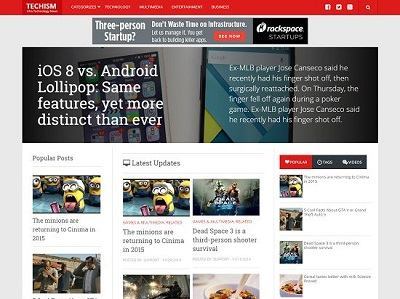 Techism Responsive Blogger Template small