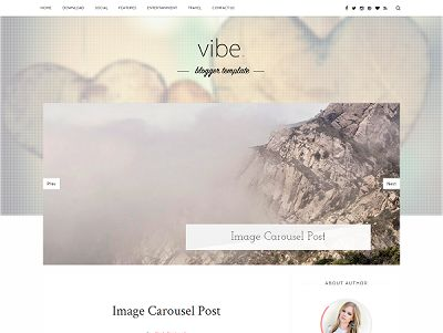 Vibe Personal Blogger Template small