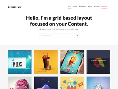 Creative Grid Based blogger Template small