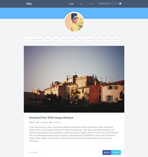 Flex Personal Blogger Template