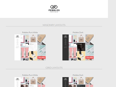 Pebbles Blogger Portfolio Template small