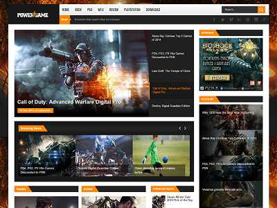 PowerGame Gaming Blogger Template small