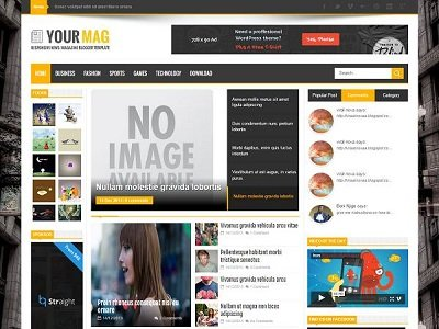 Your Magazine Blogger Template small