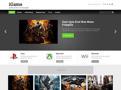 iGame Gaming Blogger Template small
