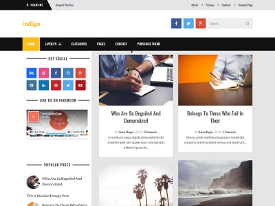 indigo grid based blogger template small
