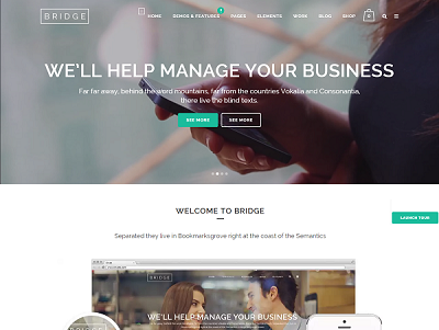 Bridge Creative WordPress Theme small