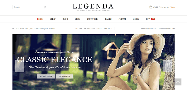 Legenda  WooCommerce WordPress Template