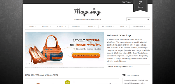 MayaShop Flexible WooCommerce Theme
