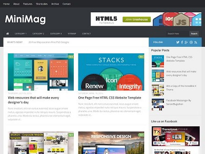 MiniMag Magazine Blogger Template small
