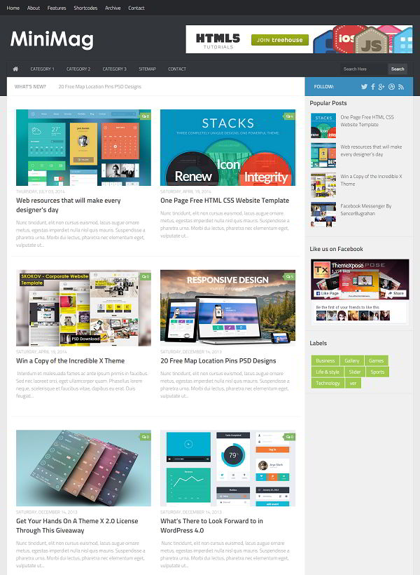 MiniMag Magazine Blogger Template
