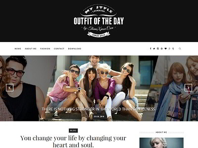 Outfit Clean Blogger Template small
