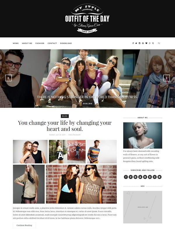 Outfit Clean Blogger Template