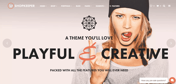 Shopkeeper Creative WooCommerce Theme