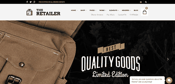 The Retailer  eCommerce WordPress Theme