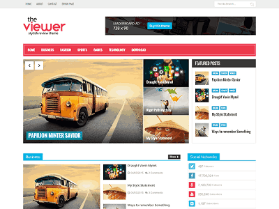 Viewer Magazine Blogger template small